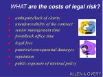 what are the costs of legal risk