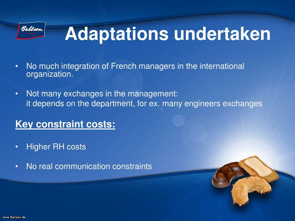 Adaptations undertaken