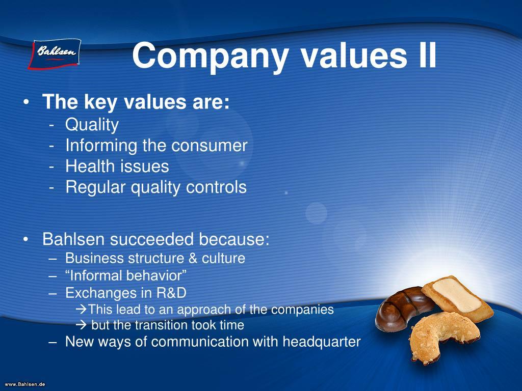 Company values II