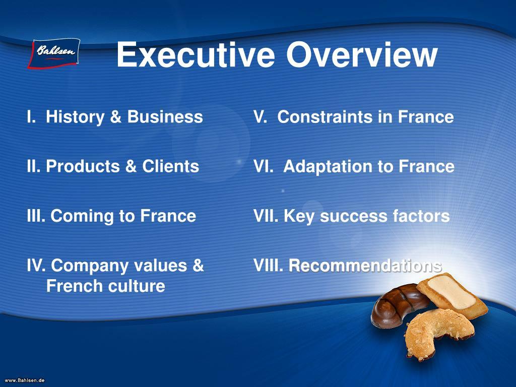 I.  History & Business
