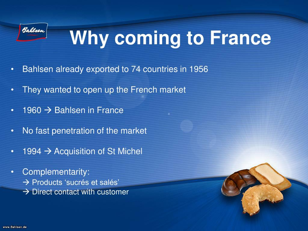 Why coming to France
