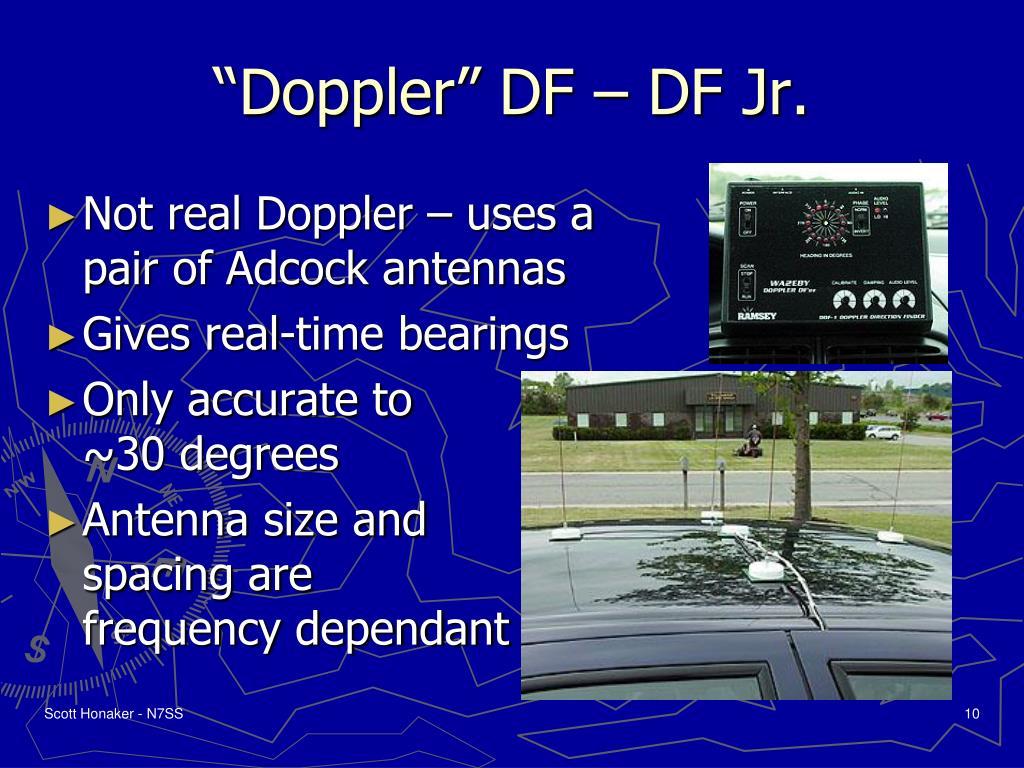 """""""Doppler"""" DF – DF Jr."""