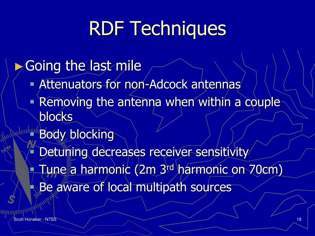 RDF Techniques