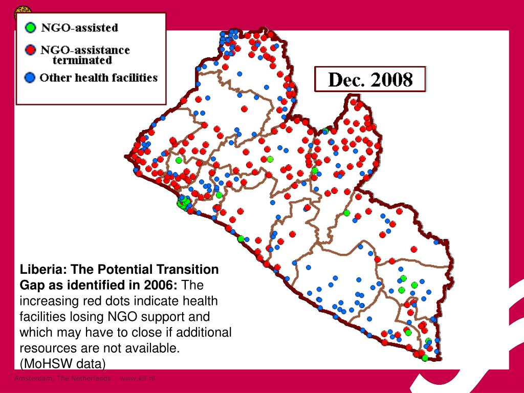 Liberia: The Potential Transition Gap as identified in 2006: