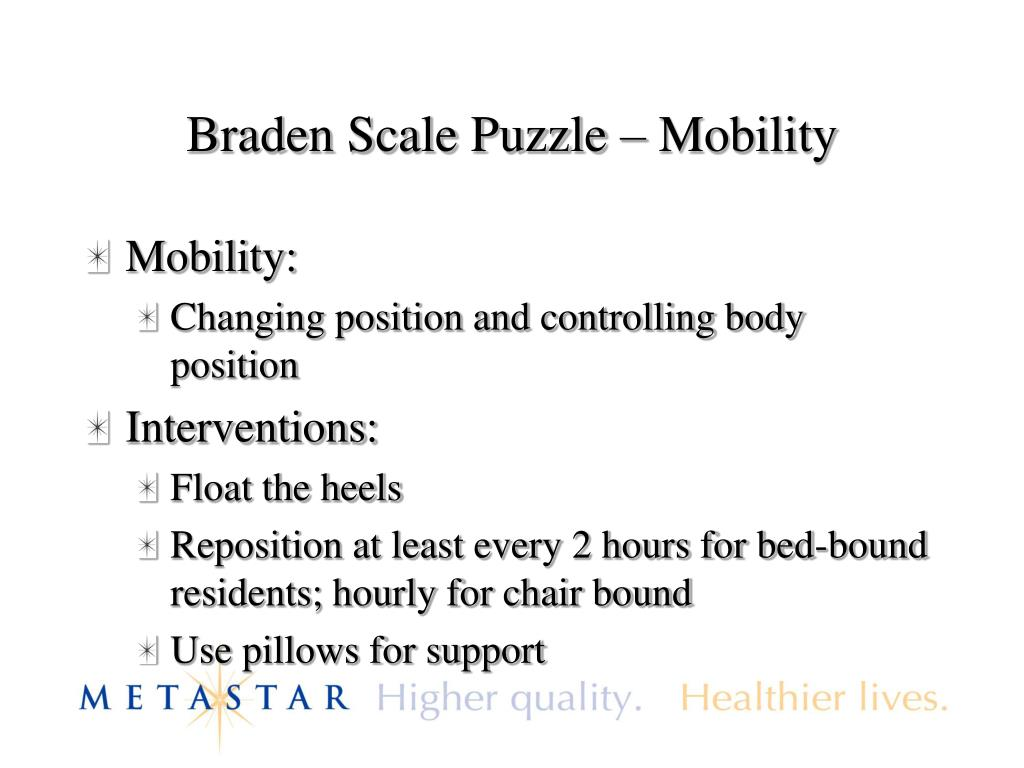 Braden Scale Puzzle – Mobility