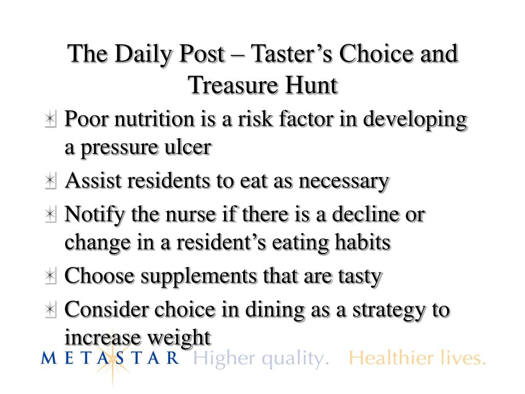 The Daily Post – Taster's Choice and Treasure Hunt