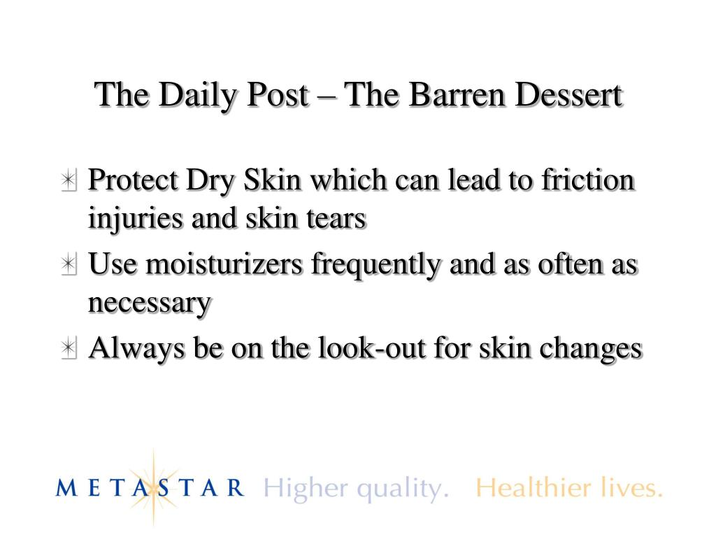 The Daily Post – The Barren Dessert