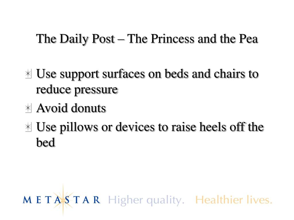 The Daily Post – The Princess and the Pea
