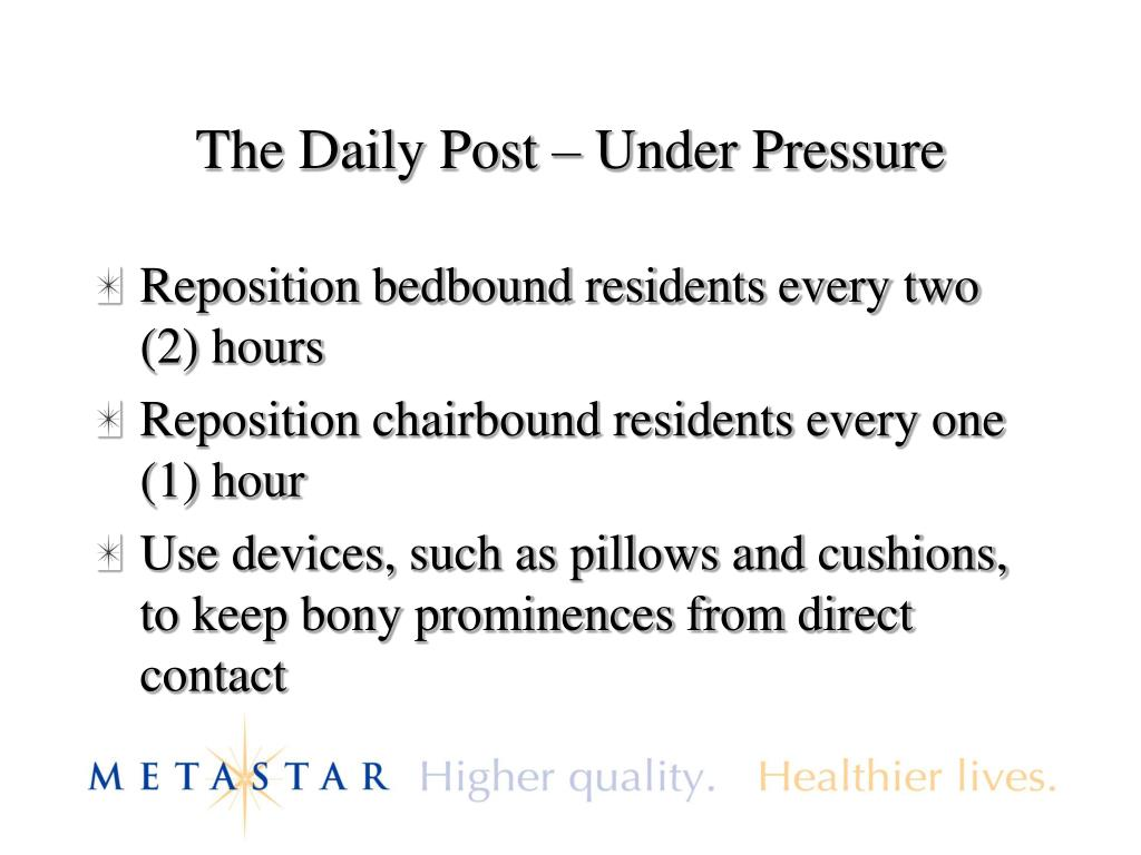 The Daily Post – Under Pressure