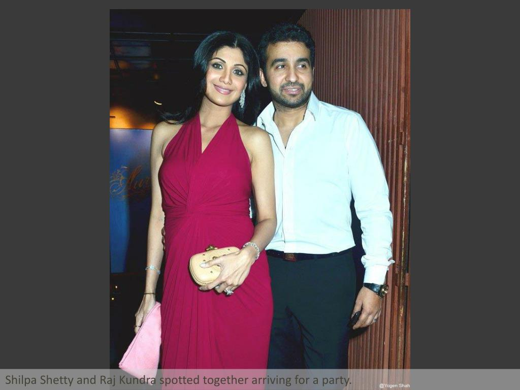 Shilpa Shetty and Raj Kundra spotted together arriving for a party.