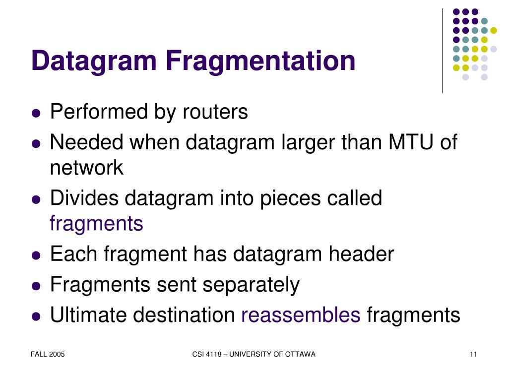 Datagram Fragmentation