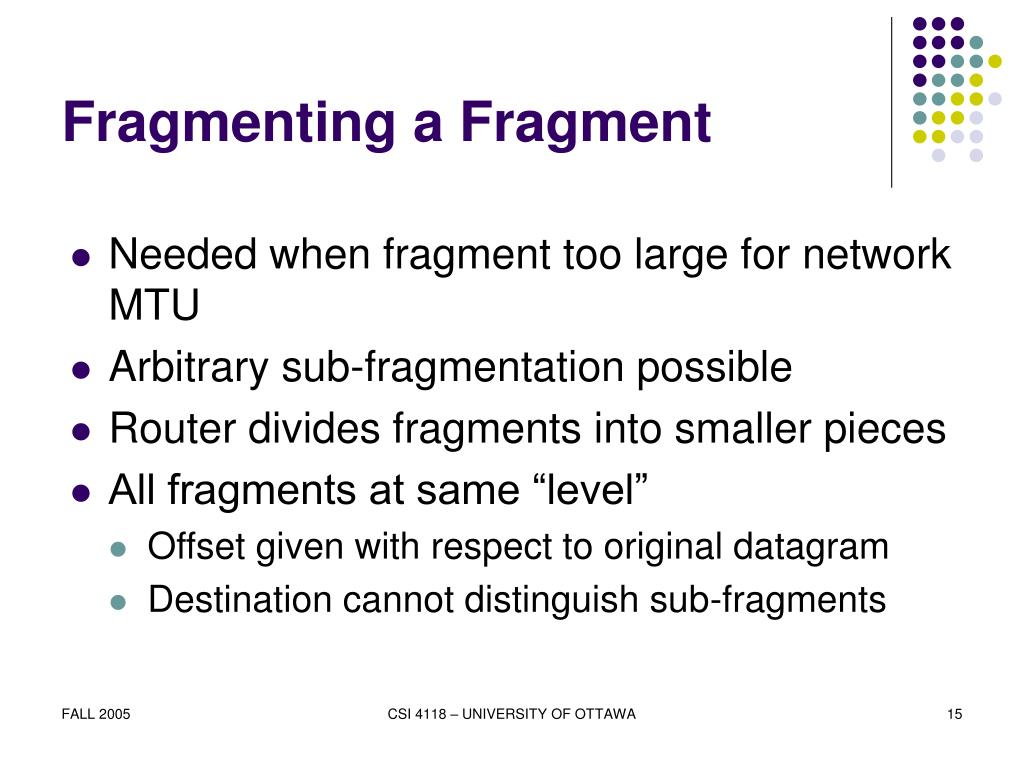 Fragmenting a Fragment