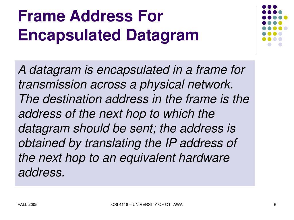 Frame Address For