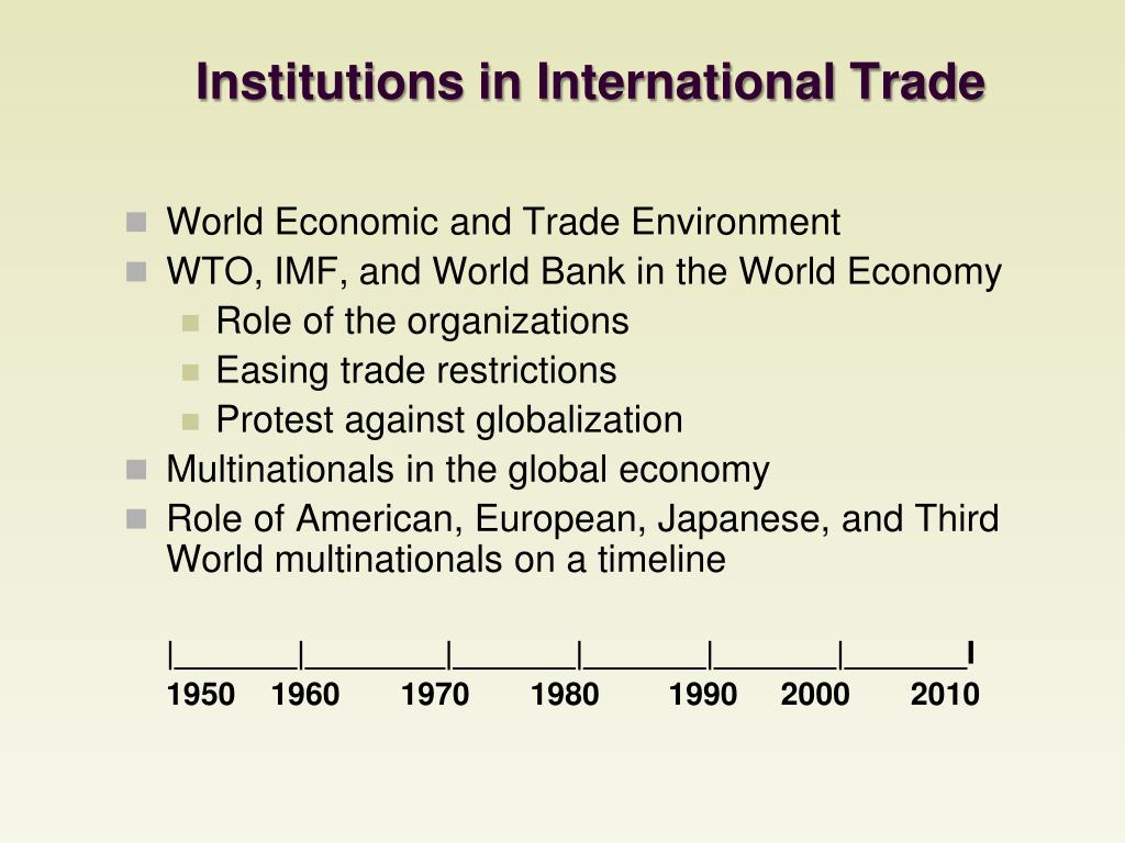 Institutions in International Trade