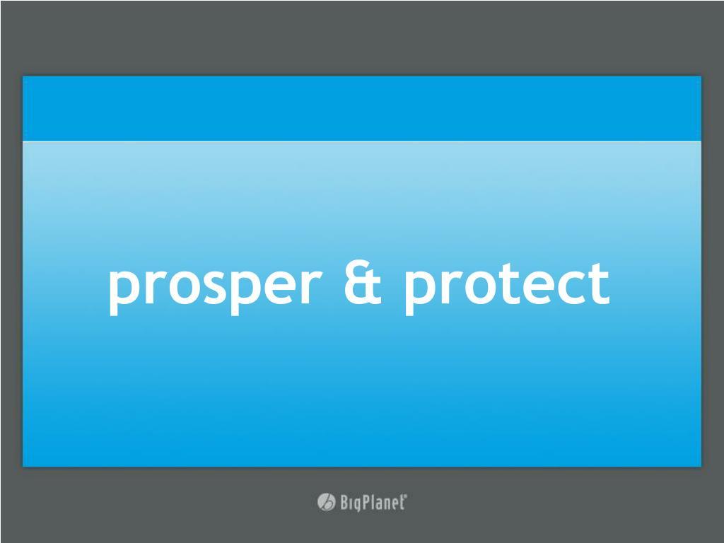 prosper & protect