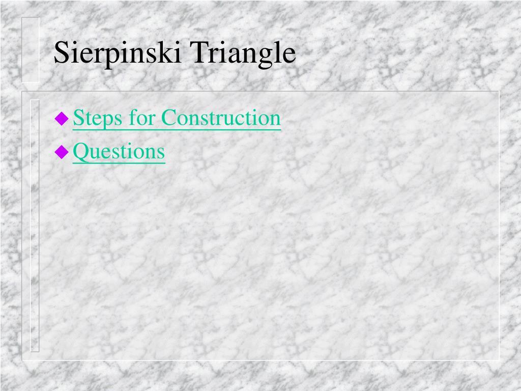 Sierpinski Triangle