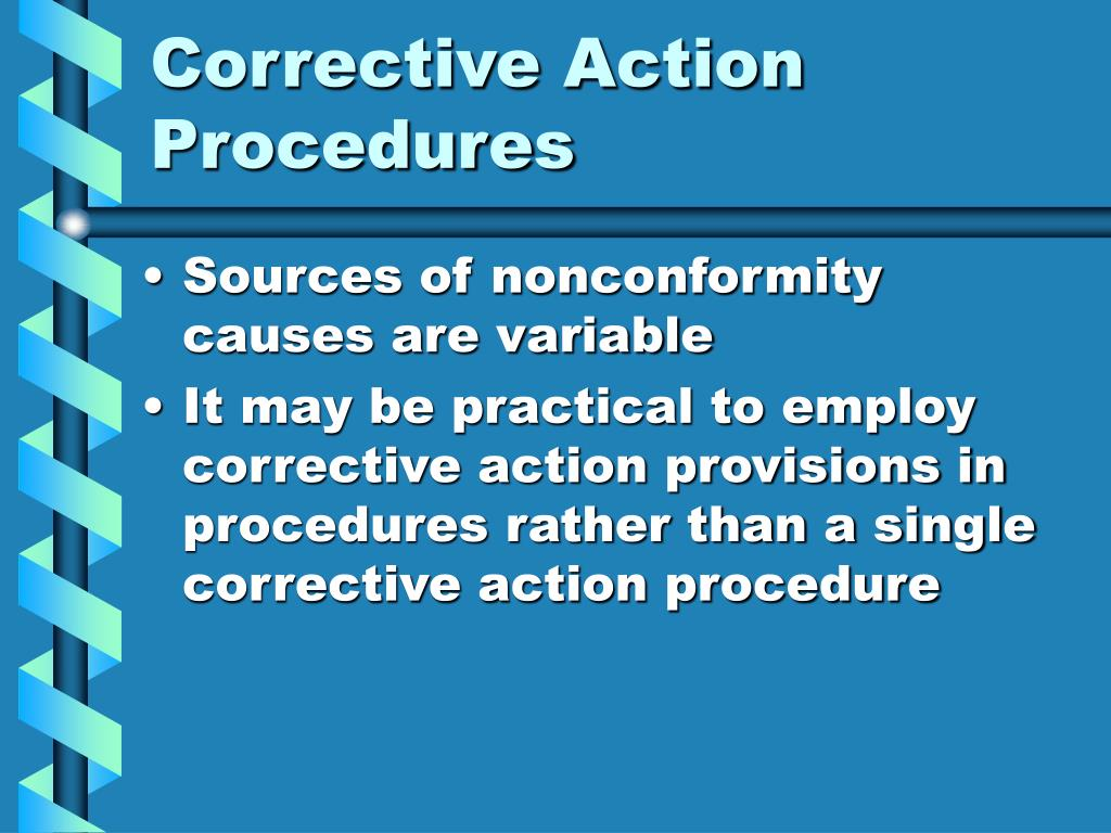 Corrective Action Procedures
