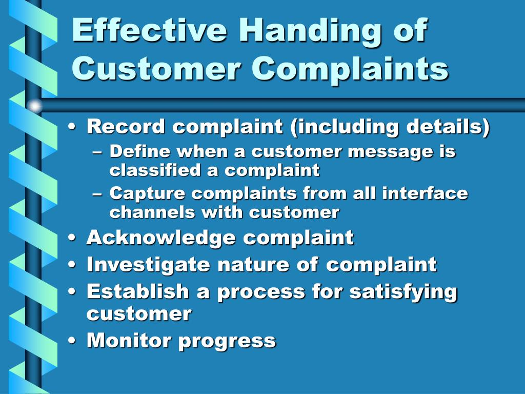Effective Handing of Customer Complaints
