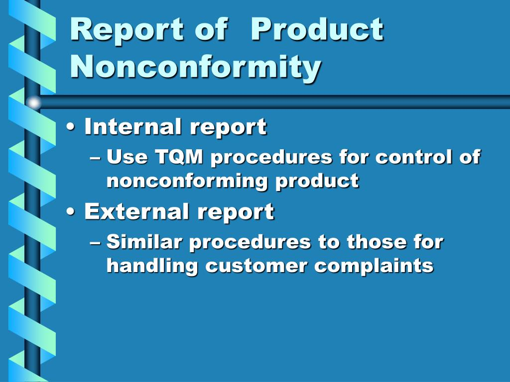 Report of  Product Nonconformity