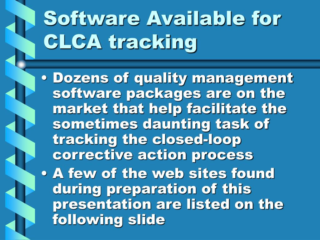Software Available for CLCA tracking