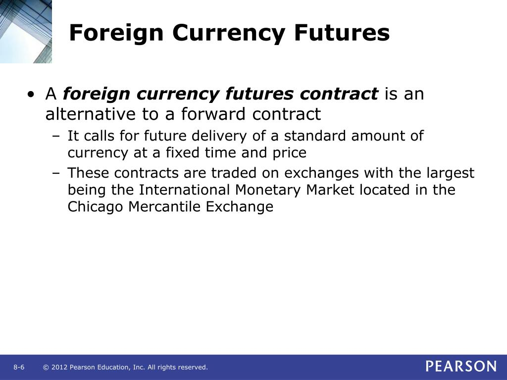 Foreign listed stock index futures and options
