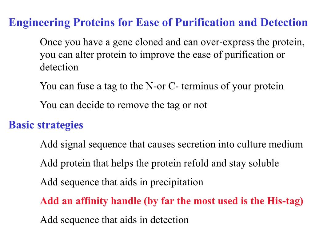 Engineering Proteins for Ease of Purification and Detection