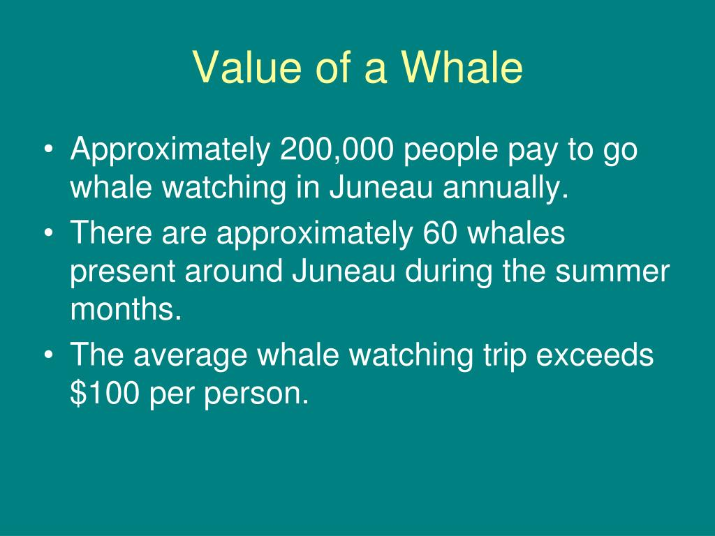 Value of a Whale