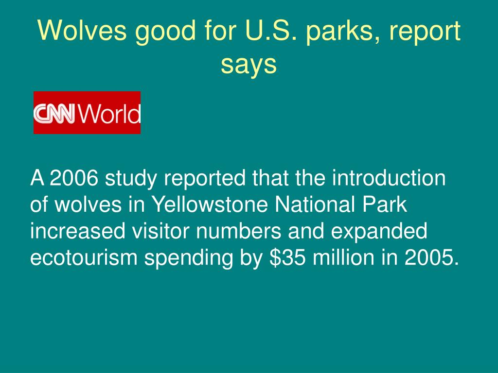 Wolves good for U.S. parks, report says