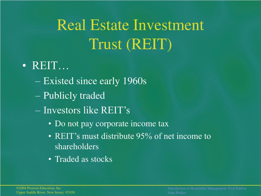 Real Estate Reit : Ppt the hotel business development and classification