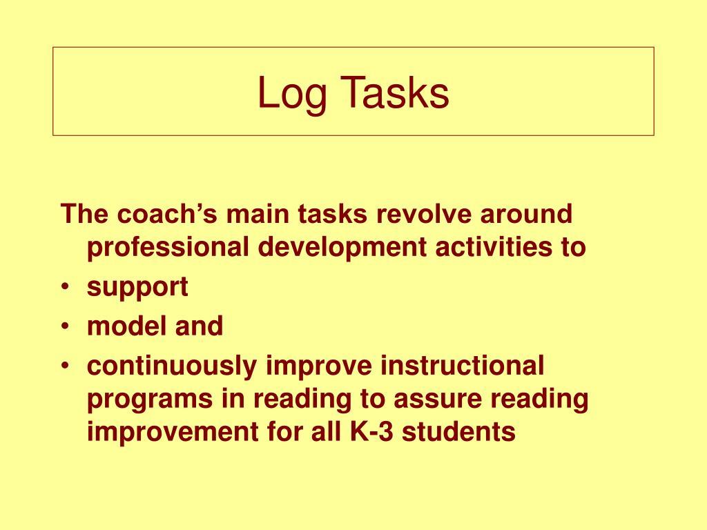 Log Tasks