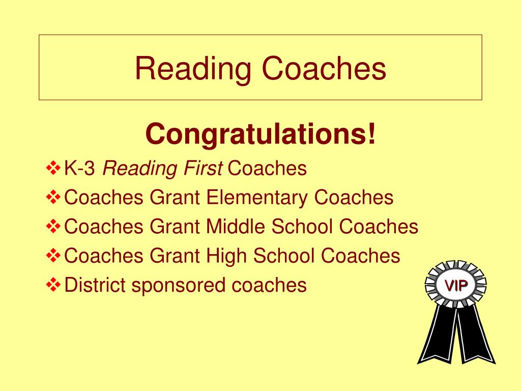 Reading Coaches