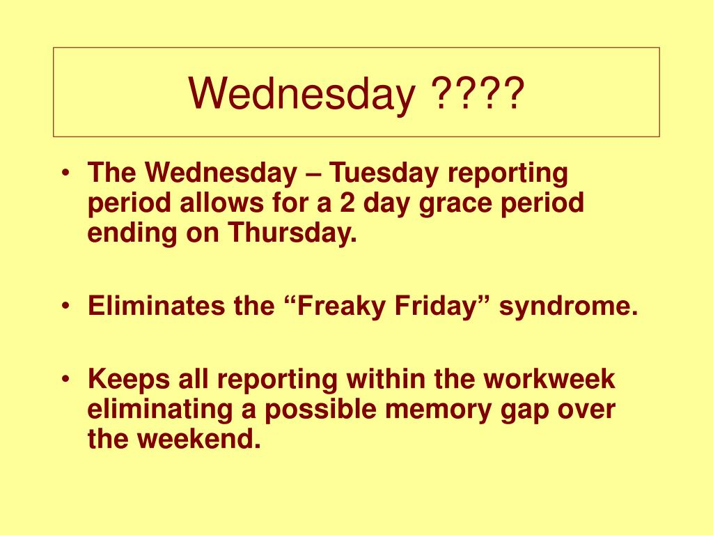 Wednesday ????