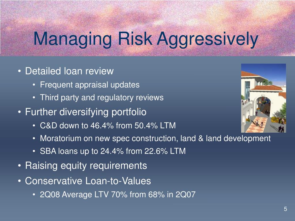 Managing Risk Aggressively