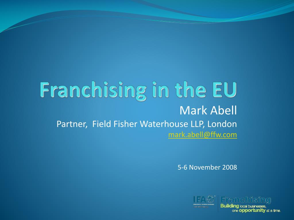 Franchising in the EU
