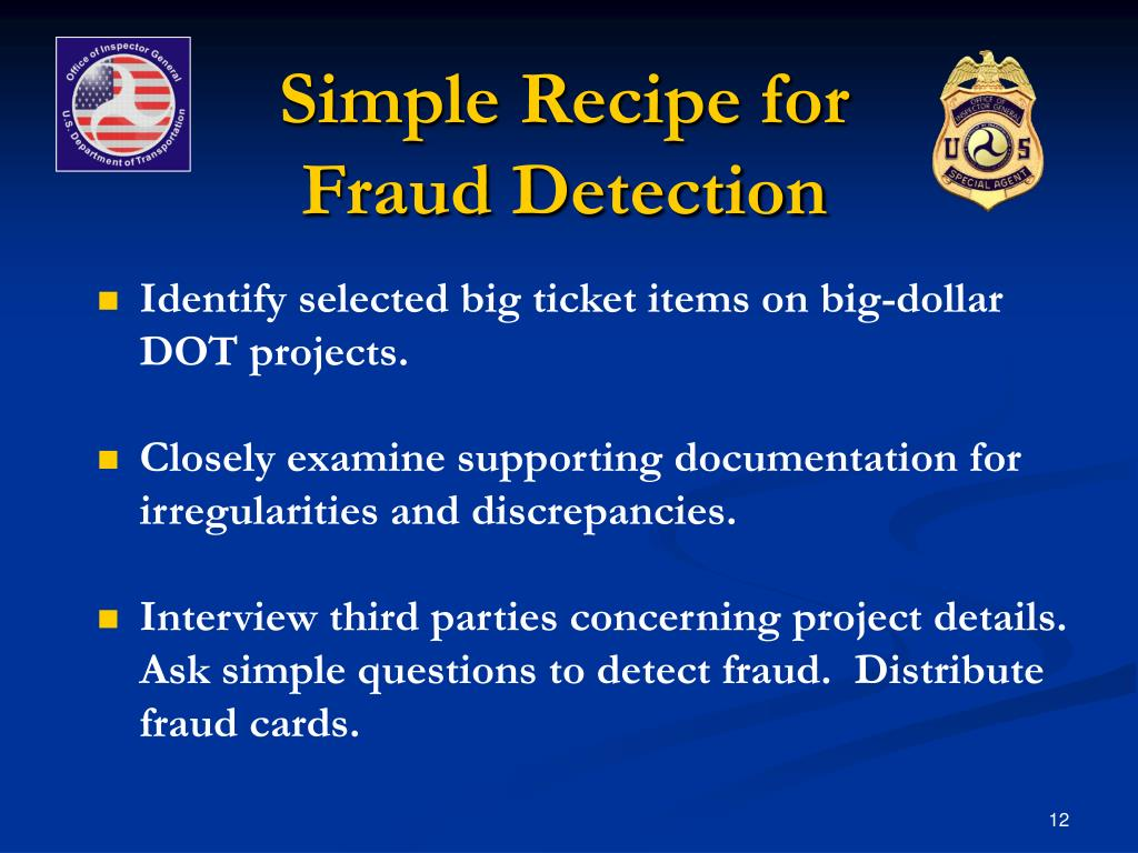 Simple Recipe for Fraud Detection