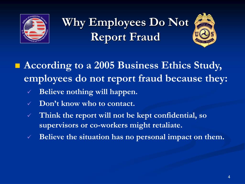 Why Employees Do Not Report Fraud