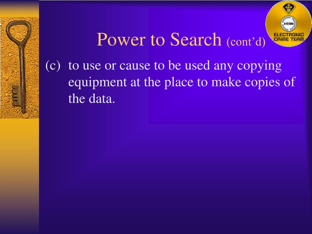 Power to Search