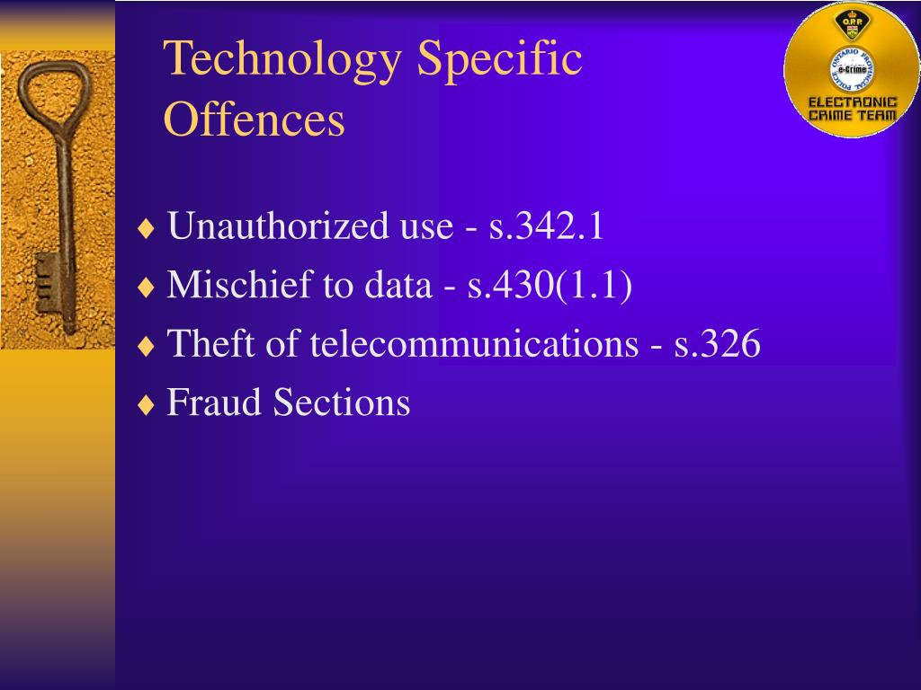 Technology Specific Offences