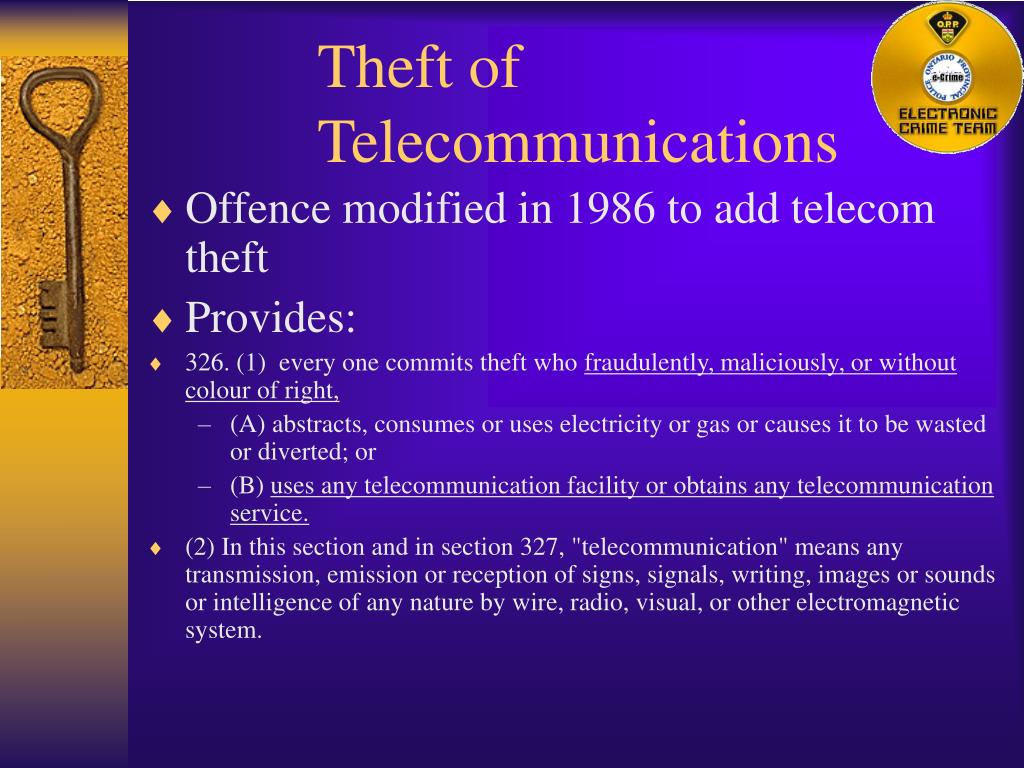 Theft of Telecommunications