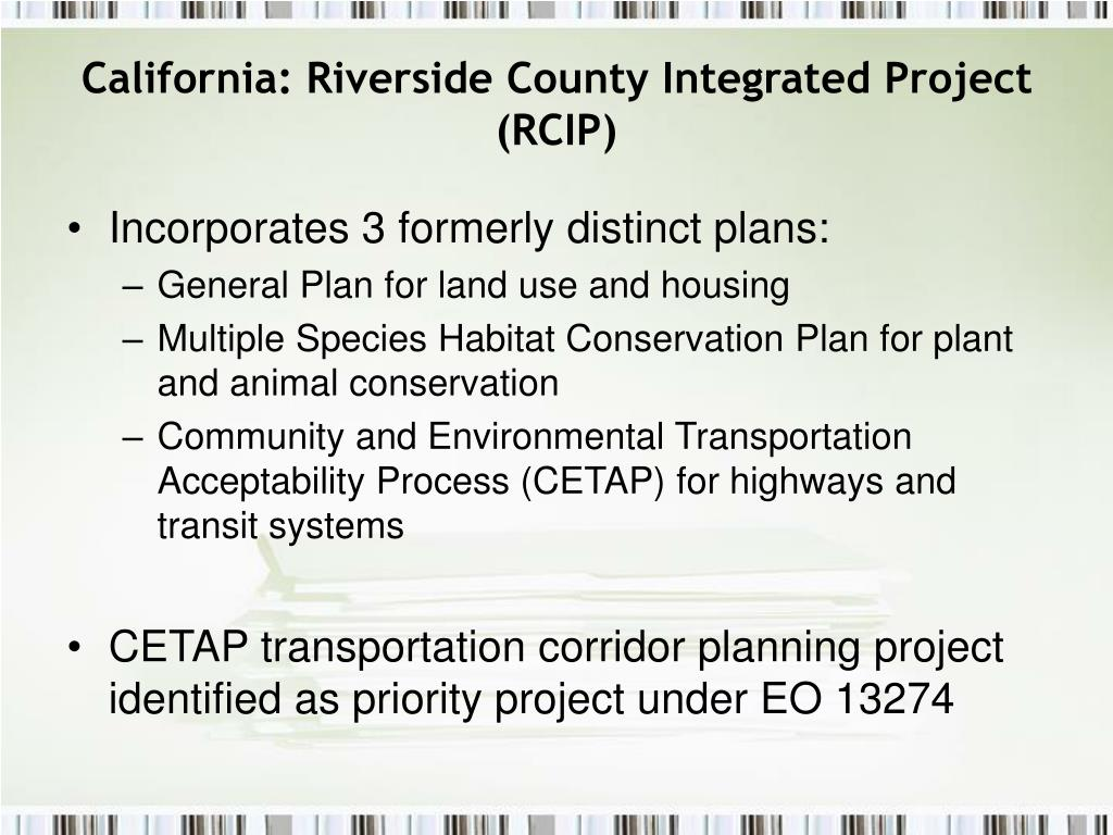 California: Riverside County Integrated Project (RCIP)