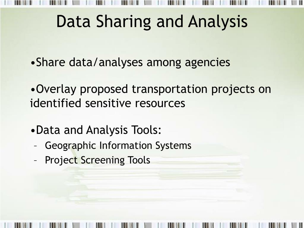 Data Sharing and Analysis