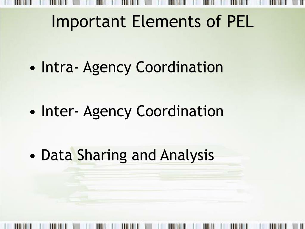 Important Elements of PEL