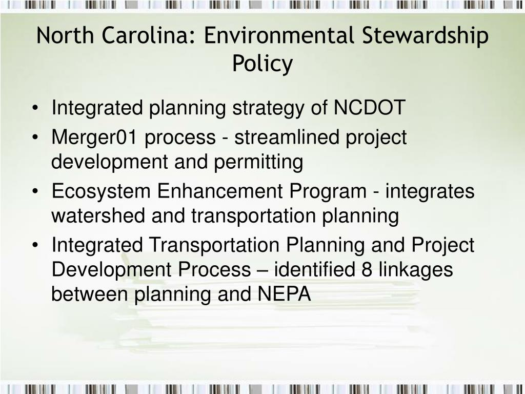 North Carolina: Environmental Stewardship Policy
