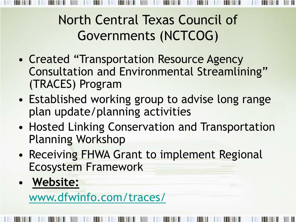 North Central Texas Council of Governments (NCTCOG)