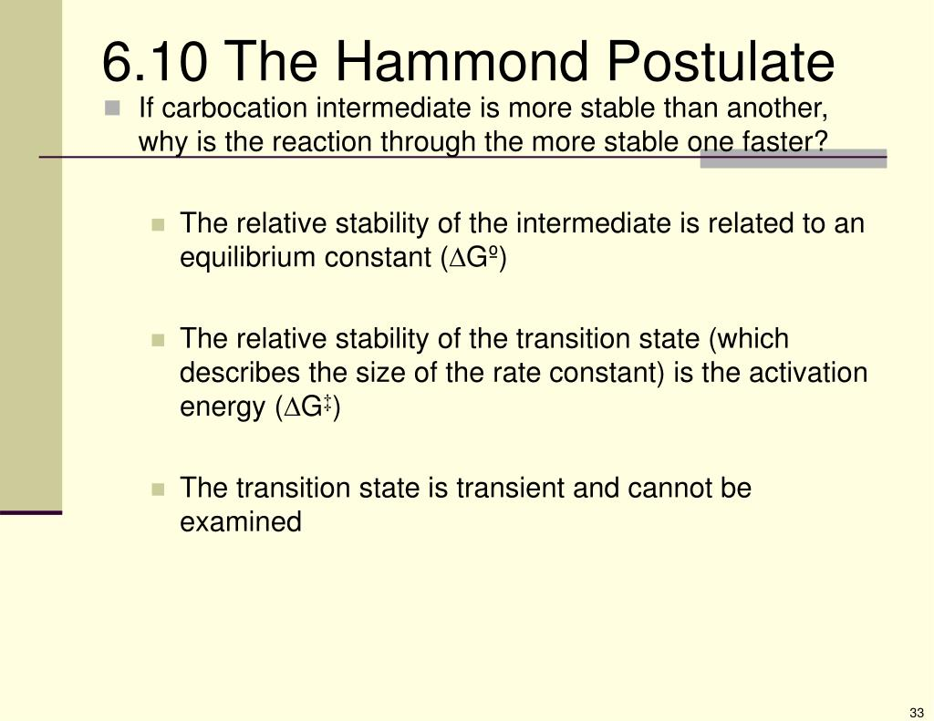 6.10 The Hammond Postulate