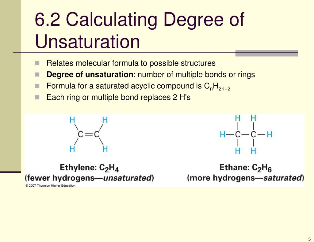 6.2 Calculating Degree of Unsaturation