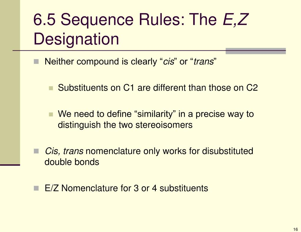 6.5 Sequence Rules: The