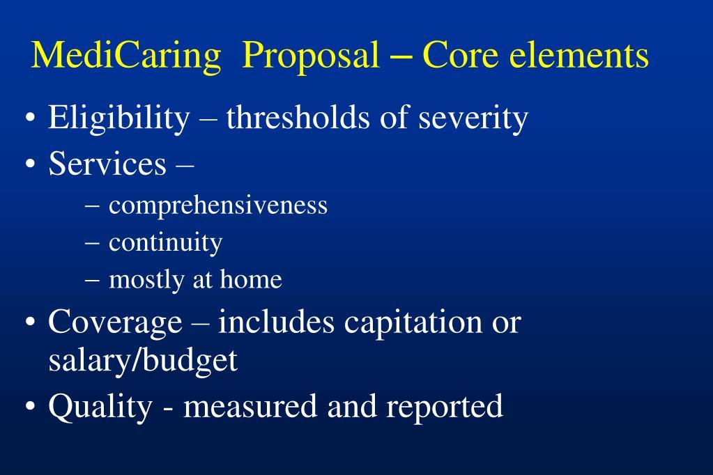MediCaring  Proposal