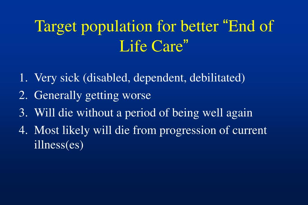 Target population for better