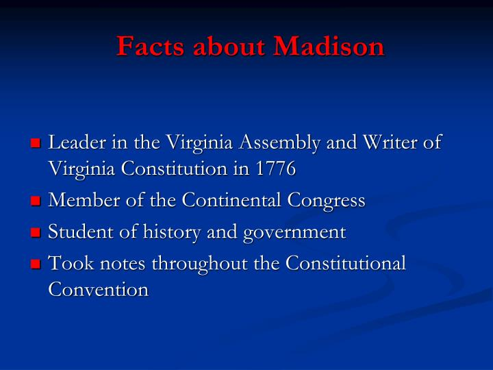 Facts about madison
